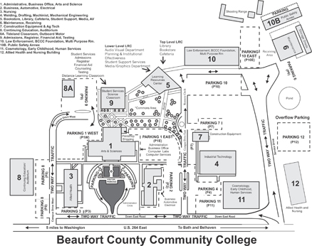greenville college campus map Beaufort County Community College Directions greenville college campus map